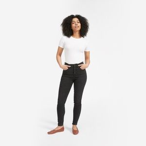 Everlane Stretch High-Rise Skinny Button Fly Jeans